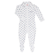 Buy Bonds Baby Poodlette Dot Print Zip Wondersuit Sleepsuit, White/Blue Online at johnlewis.com