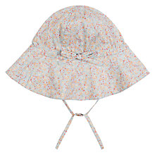 Buy Wheat Baby Floral Ditsy Print Sun Hat, Blue/Multi Online at johnlewis.com