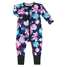 Buy Bonds Baby Gypset Blooms Zip Wondersuit Sleepsuit, Black/Multi Online at johnlewis.com