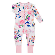 Buy Bonds Baby Flower Market Print Zip Wondersuit Sleepsuit, Pink/Multi Online at johnlewis.com