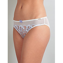 Buy Somerset by Alice Temperley Sienna Briefs, Ivory/Blue Online at johnlewis.com
