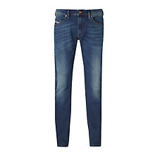 Buy Diesel Thommer Skinny Fit Stretch Jeans, Blue/Green 084BU Online at johnlewis.com
