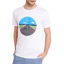 Buy HYMN Speed Racing Print T-Shirt, White Online at johnlewis.com