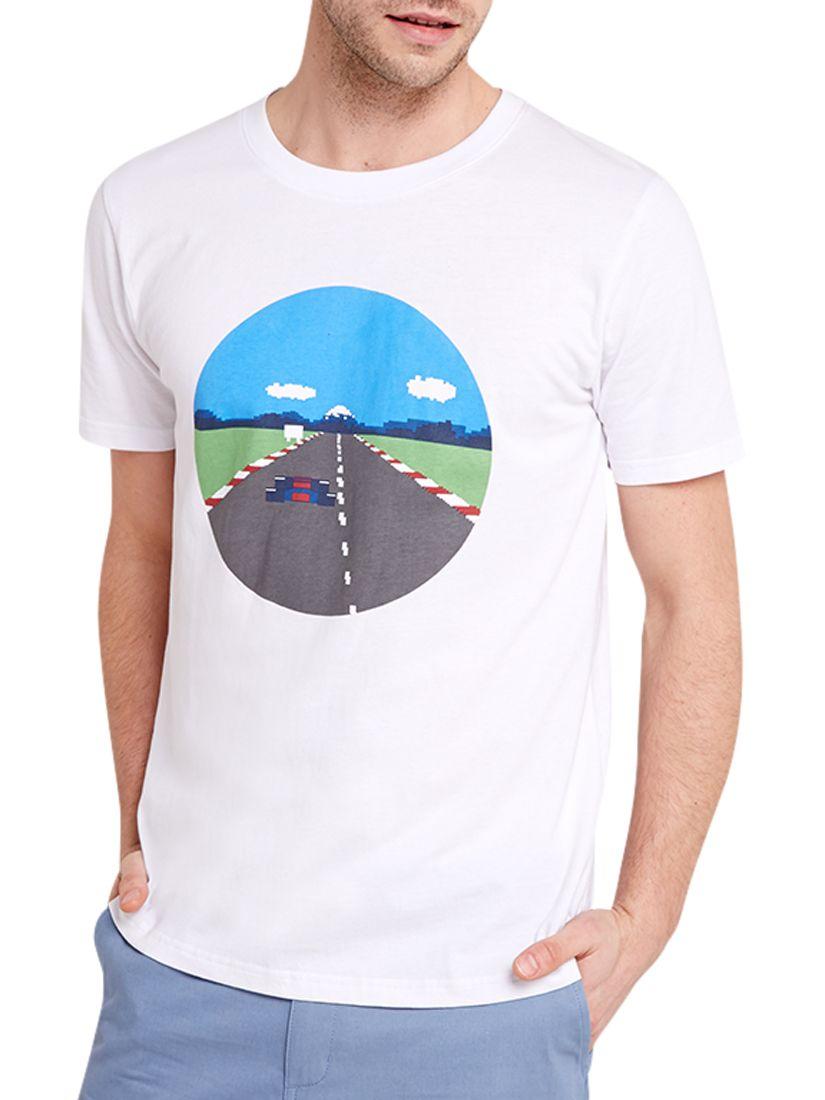 HYMN HYMN Speed Racing Print T-Shirt, White