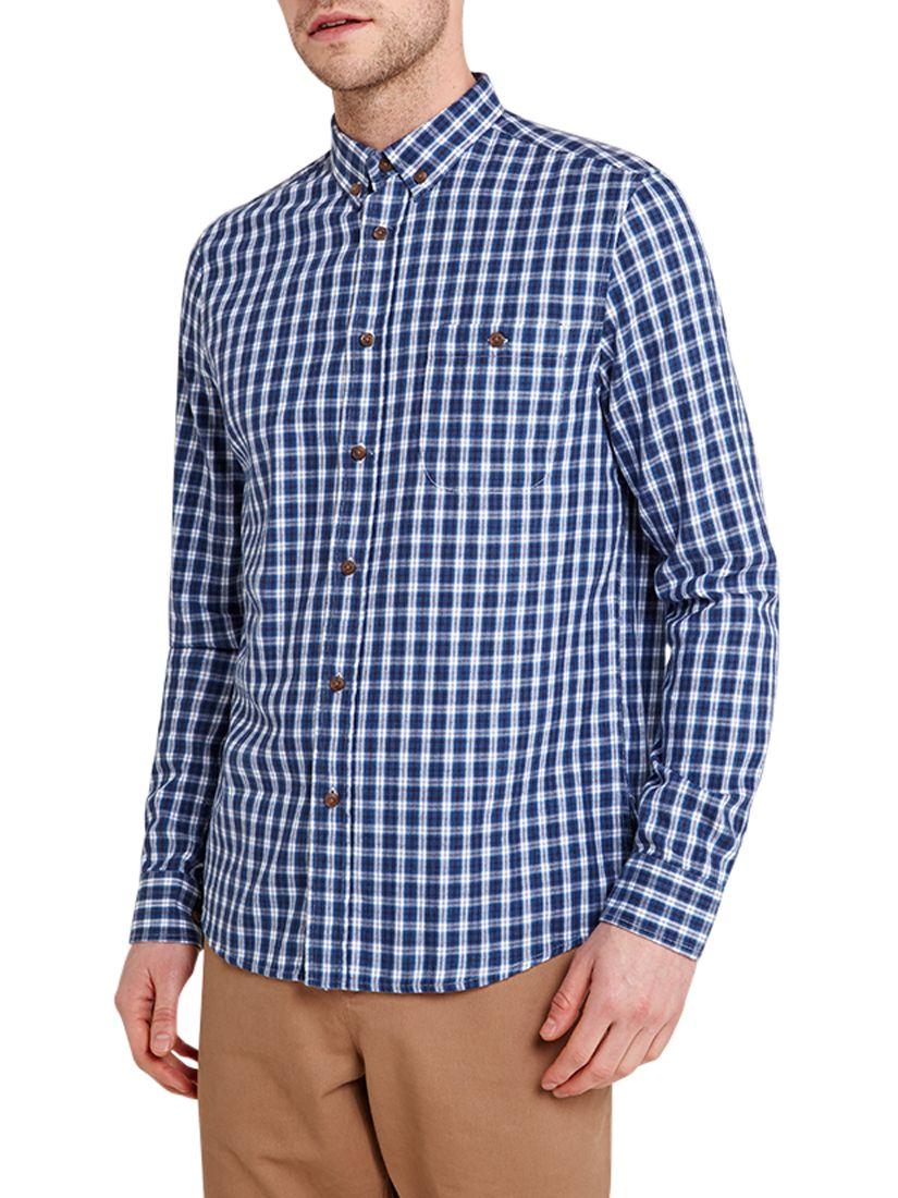 HYMN HYMN Vaynor Check Shirt, Blue