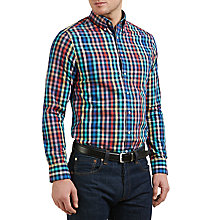 Buy Gant Easy Care Basket Weave Gingham Check Shirt, Persian Blue/Multi Online at johnlewis.com