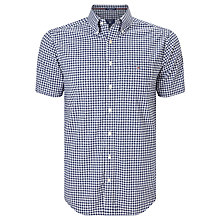 Buy Gant Poplin Gingham Short Sleeve Shirt, Persian Blue Online at johnlewis.com