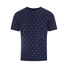 Buy HYMN Glider Paper Airplane Print T-Shirt, Indigo Online at johnlewis.com