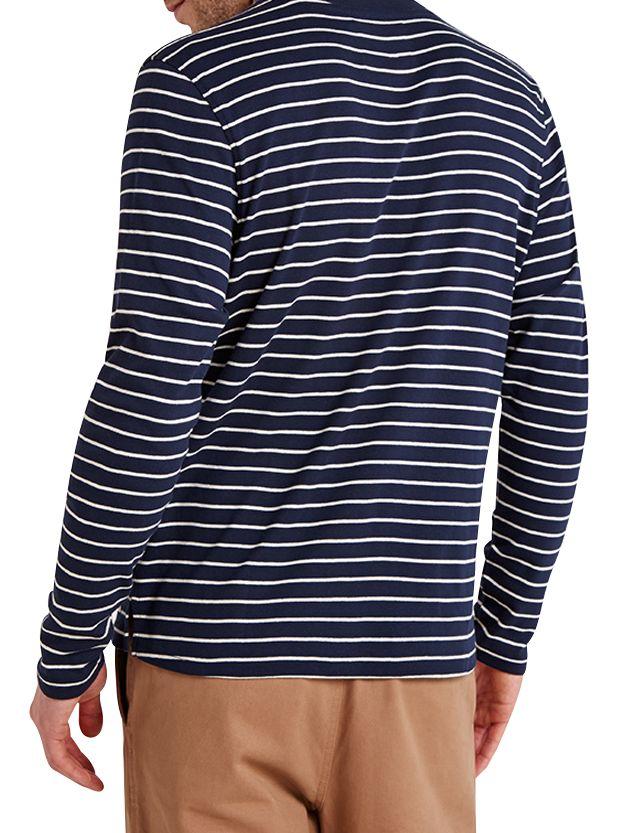 HYMN HYMN Farwell Striped Long Sleeve T-Shirt, Navy/Ecru