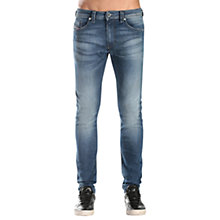 Buy Diesel Thommer Skinny Fit Stretch Cotton Jeans, Mid Blue Wash 084CV Online at johnlewis.com