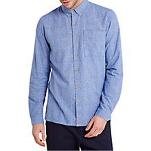 Buy HYMN Graph Check Button Down Long Sleeve Shirt, Blue/White Online at johnlewis.com