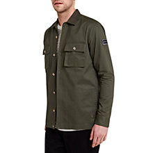 Buy HYMN Wargame Badge Overshirt, Dark Green Online at johnlewis.com