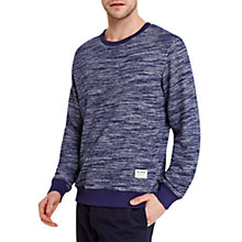 Buy HYMN Snarf Slub Stripe Sweatshirt, Navy Online at johnlewis.com