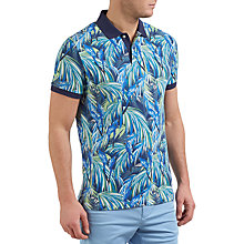 Buy Gant Jungle Parrot Print Polo Shirt, Blue Online at johnlewis.com