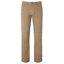 Buy Gant Micro Twill Regular Straight Trousers, Khaki Beige Online at johnlewis.com