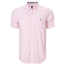 Buy Gant Poplin Banker Striped Short Sleeve Shirt, Bright Pink Online at johnlewis.com