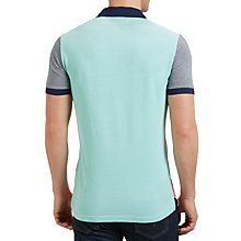 Buy Gant Colour Block Oxford Polo Shirt, Bright Magenta/Multi Online at johnlewis.com