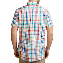 Buy Gant Easy Care Basket Weave Check Shirt, White/Multi Online at johnlewis.com