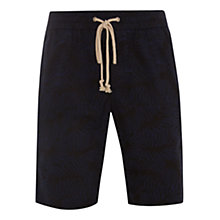 Buy HYMN Leafy Palm Print Chino Shorts, Navy Online at johnlewis.com