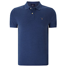 Buy Gant Original Pique Cotton Polo Shirt, Ocean Blue Online at johnlewis.com