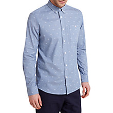 Buy HYMN Paper Planes Print Shirt, Blue Online at johnlewis.com