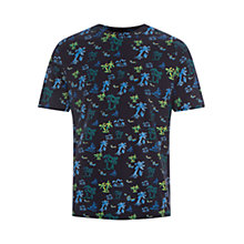 Buy HYMN Hula Tropical Print T-Shirt, Navy Online at johnlewis.com