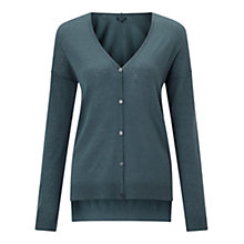 Buy Jigsaw Wafer Cashmere Cardigan, Bay Leaf Online at johnlewis.com