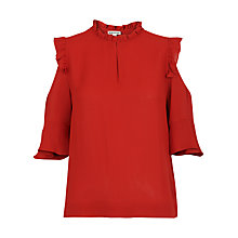 Buy Whistles Bibi Cold Shoulder Top, Burnt Orange Online at johnlewis.com