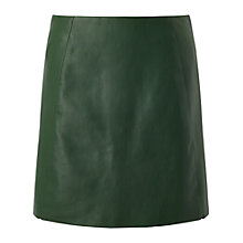 Buy Miss Selfridge PU A-Line Skirt, Dark Green Online at johnlewis.com