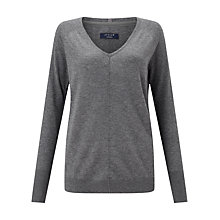 Buy Jigsaw Wafer Cashmere V-Neck Jumper Online at johnlewis.com