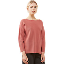 Buy Jigsaw Sculpted Milano Jumper, Coral Blush Online at johnlewis.com