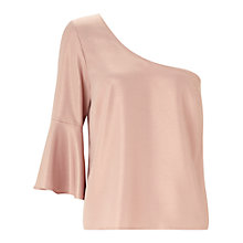 Buy Miss Selfridge Shimmer One Shoulder Top Online at johnlewis.com
