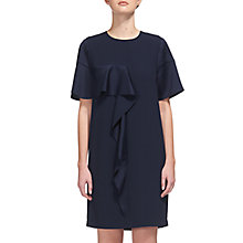 Buy Whistles Cora Crepe Frill Dress, Navy Online at johnlewis.com