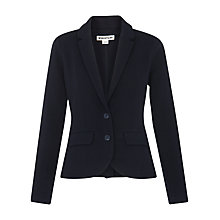 Buy Whistles Slim Jersey Jacket, Navy Online at johnlewis.com