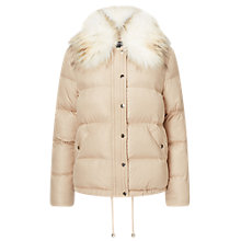 Buy Miss Selfridge Puffer Jacket, Nude Online at johnlewis.com