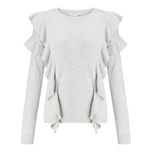 Buy Miss Selfridge Ruffle Jumper, Grey Online at johnlewis.com