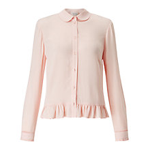 Buy Miss Selfridge Peplum Hem Shirt, Pink Online at johnlewis.com