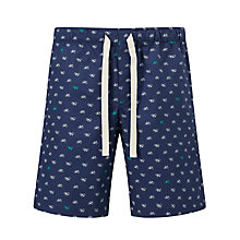 Buy John Lewis Bicycle Print Lounge Shorts, Blue Online at johnlewis.com