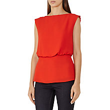 Buy Reiss Robin Slash Neck Top, Flame Online at johnlewis.com