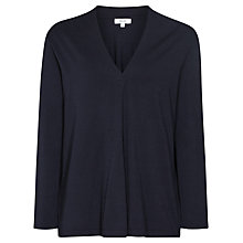 Buy Reiss Agata Pleat Front Jumper, Navy Online at johnlewis.com