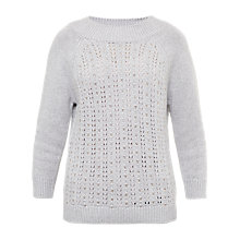 Buy Ted Baker Tofya Hot Fix Stitch Jumper, Mid Grey Online at johnlewis.com