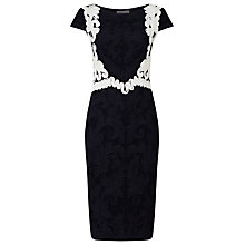 Buy Phase Eight Daphne Tapework Dress, Navy/Ivory Online at johnlewis.com