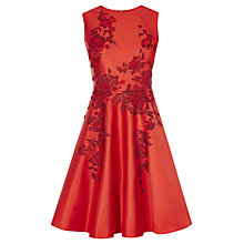 Buy Karen Millen Applique Floral Prom Dress, Red Online at johnlewis.com