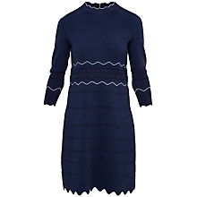 Buy Ted Baker Coletie Scallop Edge Tunic, Navy Online at johnlewis.com
