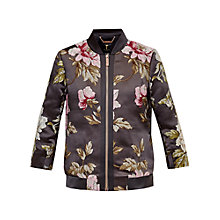 Buy Ted Baker Hartye Floral Jacquard Bomber Jacket, Grey Marl Online at johnlewis.com
