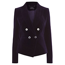 Buy Karen Millen Velvet Tuxedo Jacket, Purple Online at johnlewis.com