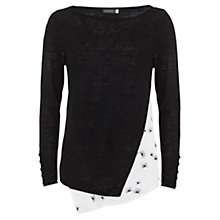 Buy Mint Velvet Viola Print Layered Jumper, Black/White Online at johnlewis.com