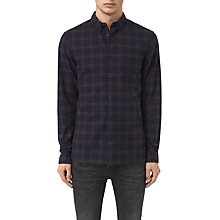 Buy AllSaints Colfax Long Sleeve Shirt, Ink Check Online at johnlewis.com