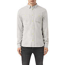 Buy AllSaints Sereno Long Sleeve Slim Shirt, Smoke Grey Online at johnlewis.com