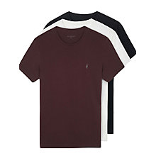 Buy AllSaints Tonic Crew Neck T-Shirt Gift Set, Pack of 3 Online at johnlewis.com
